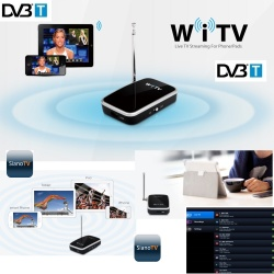WiFi TV DVB-T Decoder Ricevitore Digitale Terrestre WiFi per Smartphone Tablet Android iPhone iPad iOS